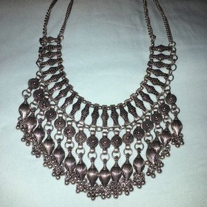 Silver statment necklace